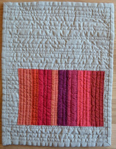 Blood Orange - a Red inspired mini quilt