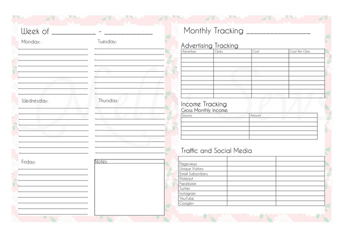 New Blog Planner Printable Pages - Melly Sews