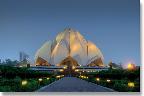Lotus Temple I by Kaushlendra.