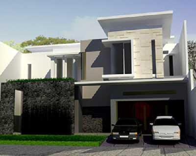 model rumah minimalis lantai 2 tampak depan