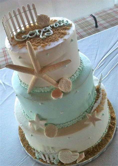 78  images about CAKES BEACH on Pinterest   Seashell