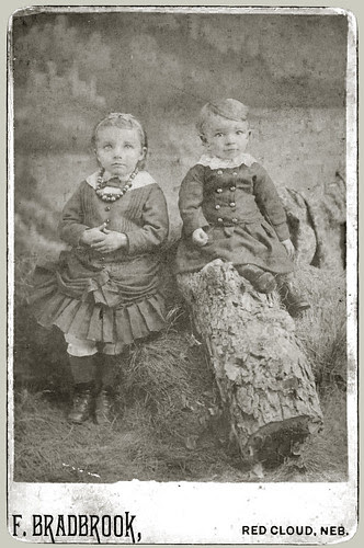 Two children in a studio