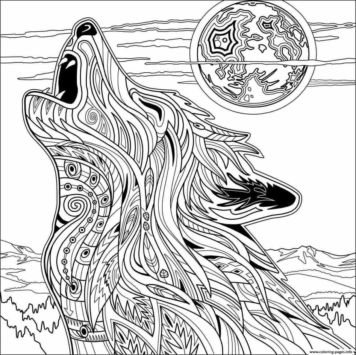Detailed Wolf Coloring Pages at GetColorings.com   Free ...