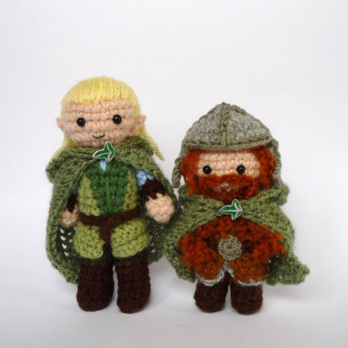 Legolas and Gimli by LunasCrafts