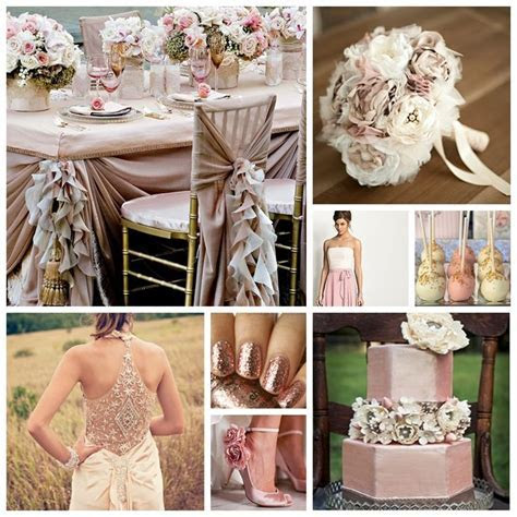 Champagne and Dusty Rose Wedding Inspiration Board