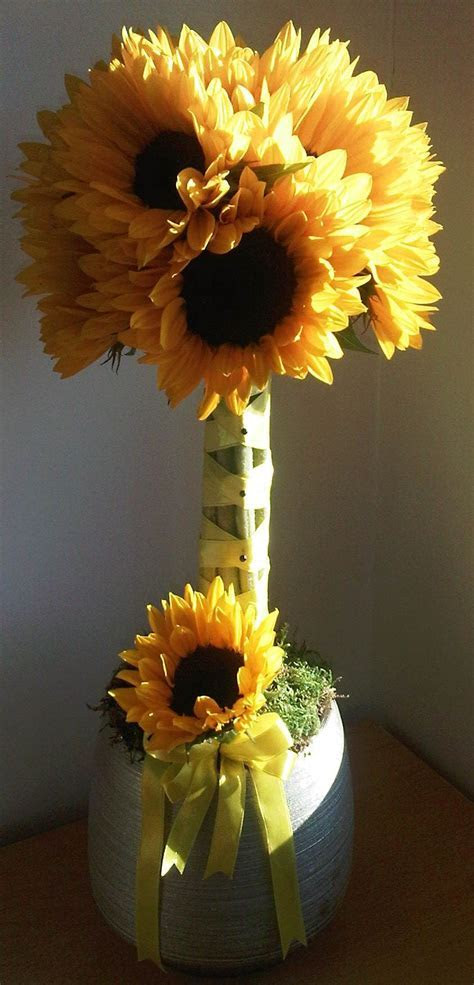 simple sunflower topiary   DIY/Crafts   Birthday party