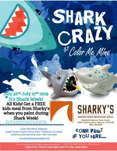 FREE Sharky's! Paint with us during Shark Week! July 22-27 ...