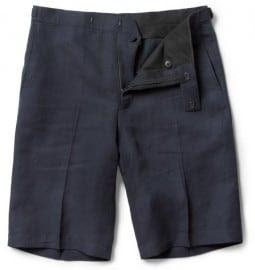 Richard James Tailored Slim-fit Linen-blend Shorts
