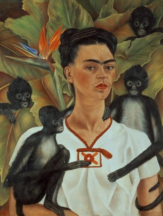 Frida Kahlo no 'Autorretrato con Monos', de 1943