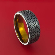 Black Zirconium Hot Rod White Wall Tire Spinner Ring