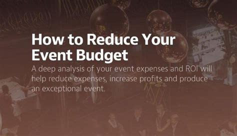 How to Reduce Your Event Budget   Blog Posts   Wedding