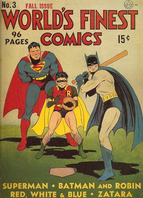 supermanblog:  holycowbatman:  DC superhero baseball game > Twilight vampire baseball game
