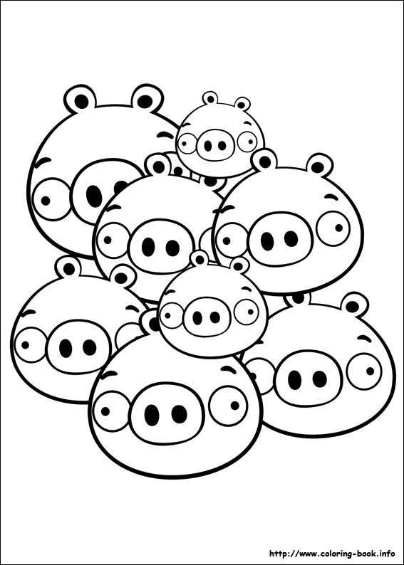 Angry Birds Pig Coloring Pages At Getcoloringscom Free Printable