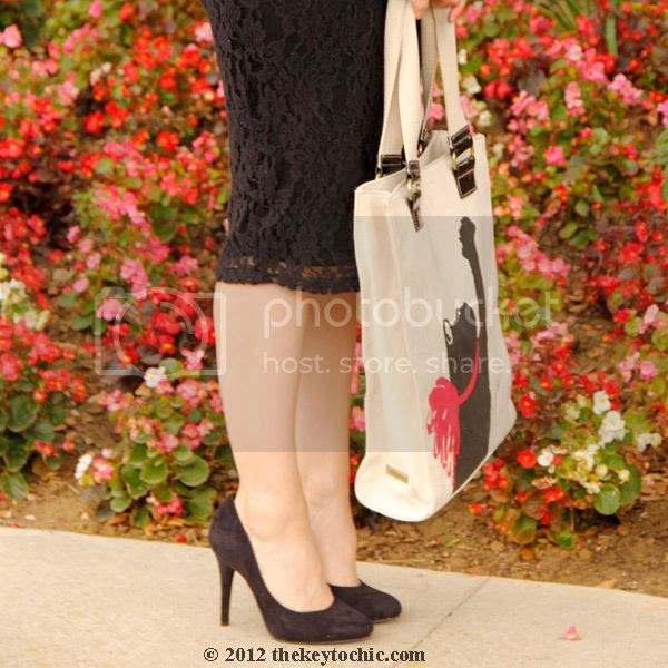 Xhilaration lace pencil skirt, Jason Wu for Target handbag, LA fashion blog, Los Angeles style
