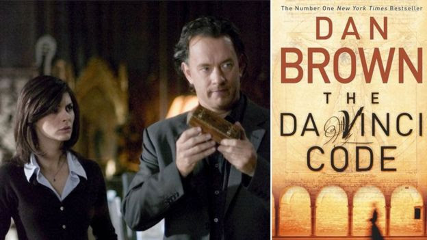 Actors Audrey Tautou and Tom Hanks in The Da Vinci Code