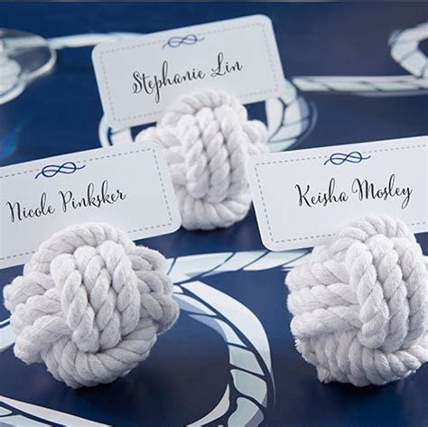 Nautical Place Card Holders, Rope Place Card Holders