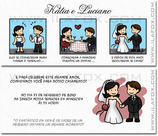tirinha em quadrinhos, convite em quadrinhos, convite casamento original, São Paulo, by ila fox