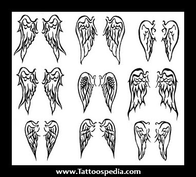 Small Angel Wing Tattoos Designs For Girls On Back