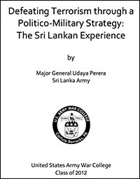 The paper produced to US Army War College by Major General Udaya Perera of the genocidal military of