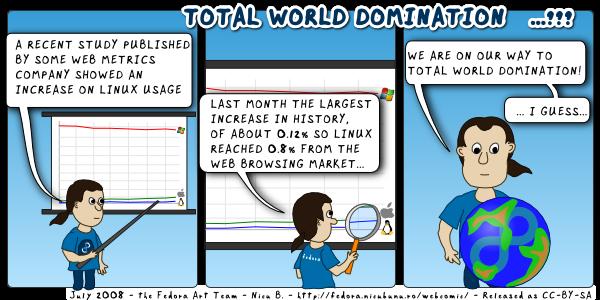 [fedora webcomic - total world domination]