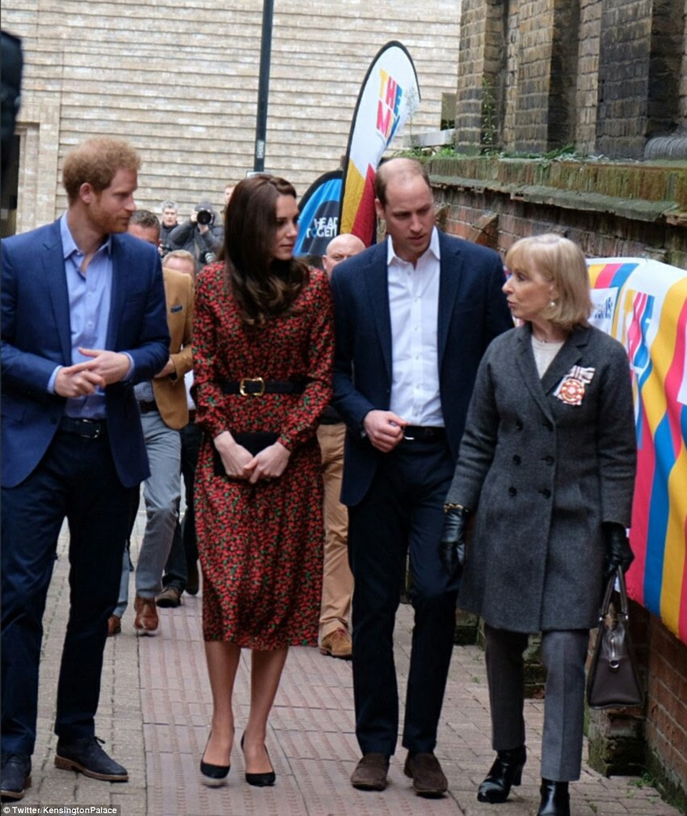 The royal trio will receive training on how to help young people facing crisis situations