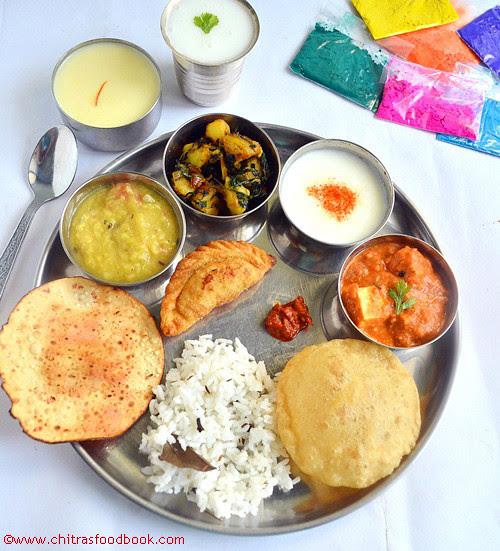 Holi Special Food Menu