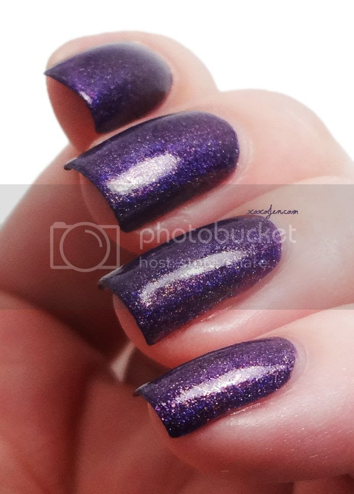 xoxoJen's swatch of Glam Polish Nightmare Before Xmas