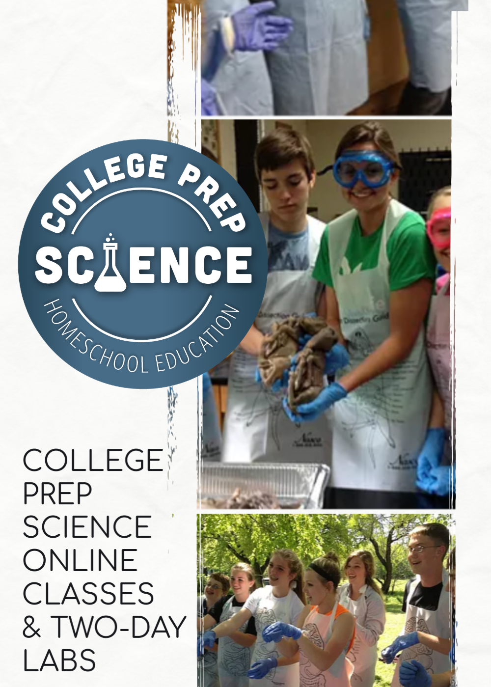 College Prep Science Online Classes for Homeschool Students and 2-Day Lab Intensives in 15 Cities Across the Country 2019-2020 School year