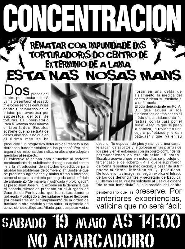 Concentración En La Cárcel De A Lama Contra Los Malos Tratos En Esta Prisión