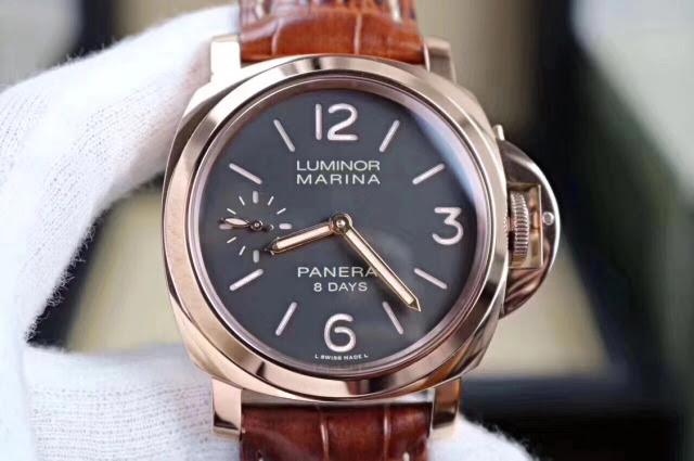 Replica Panerai Rose Gold Watch