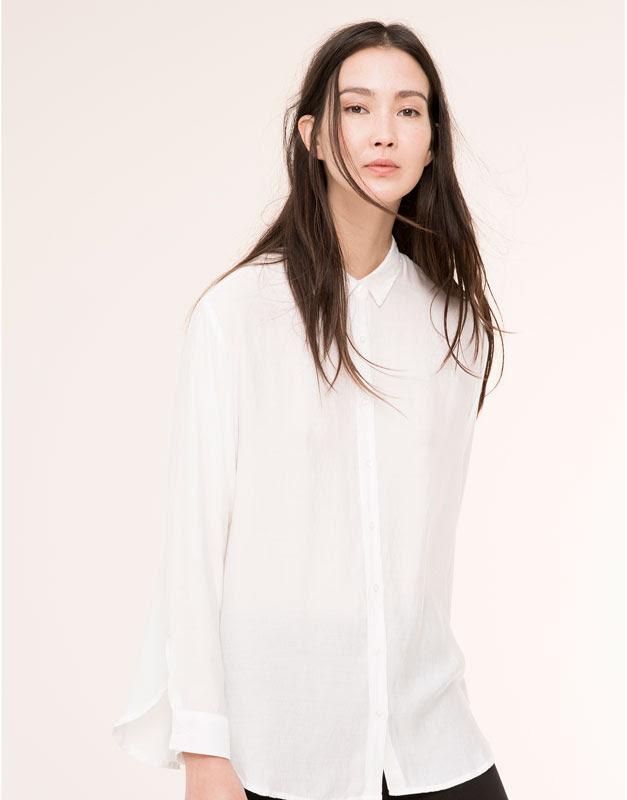 Pull&Bear - mujer - blusas y camisas - camisa larga aberturas laterales - blanco - 09471352-I2015