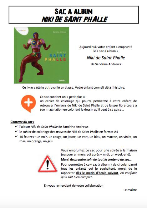 Sac à Album Niki De Saint Phalle Chez Pierrick école Petite Section