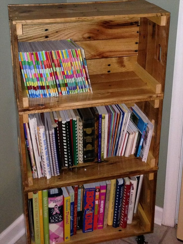 Diy Wooden Pallet Bookshelf Personal Woodworking Plans And Projects