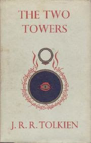 The cover of the 1st edition of The Two Towers.