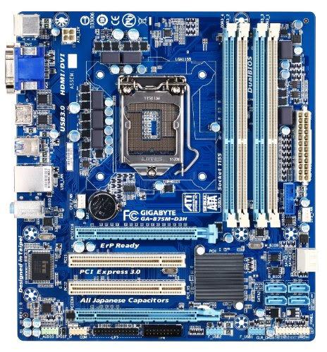 Gigabyte Lga 1155 Intel B75 Sata 6gb  S Usb 3 0 Micro Atx Ddr3 1600 Motherboards Ga