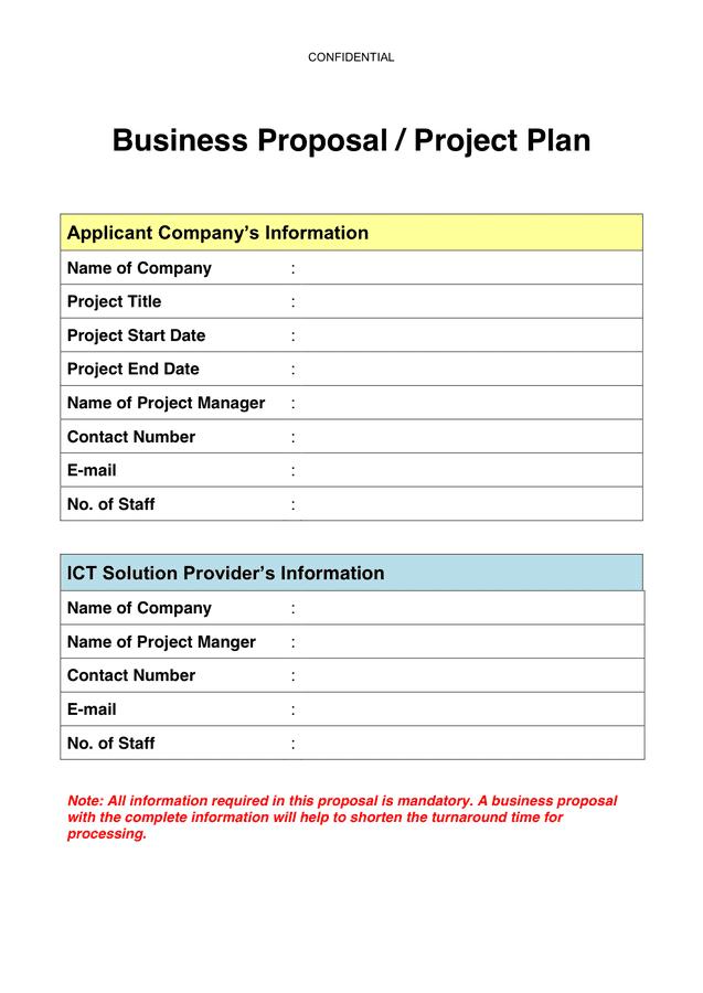 Business Plan Sample Template Pdf