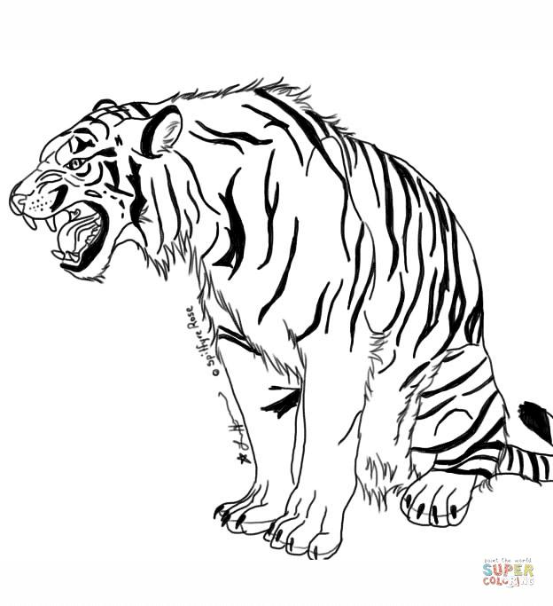 Dibujos De Tigres Para Colorear Páginas Para Imprimir Y Colorear