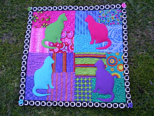 Wonder Cats Mini-quilt