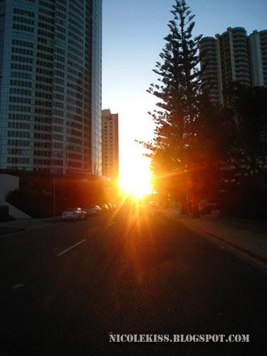 dusk in gold coast