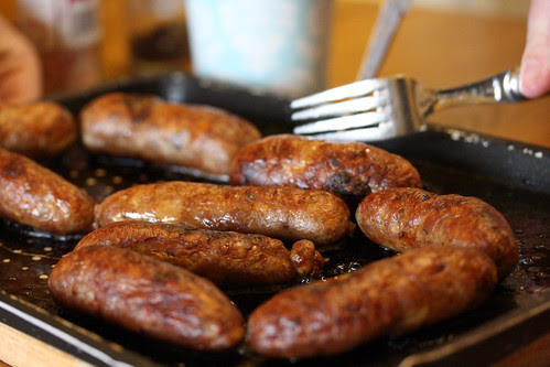 Sausages cooked