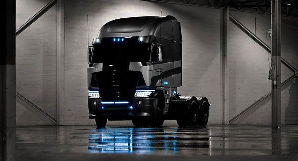 A 2014 Argosy cab-over truck that will be featured in TRANSFORMERS 4.