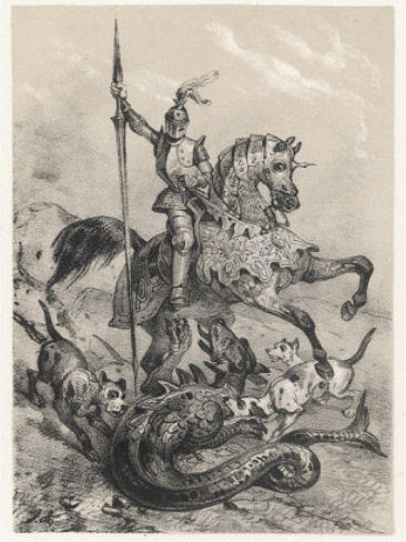 Dieudonné de Gozon slaying the dragon.
