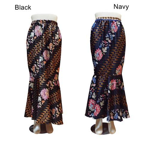 rok panjang wanita batik duyung rok lonceng rok mermaid
