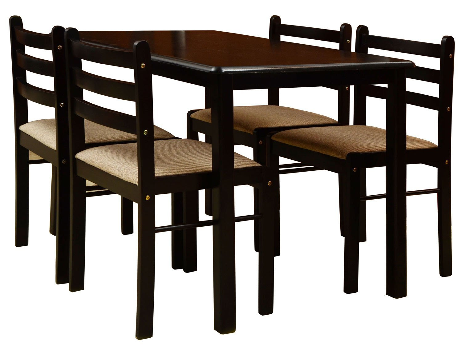 Nitraa Augusta Four Seater Dining Table \/ Contemporary Wooden Dining Set \/ 4 Seater Dining Chair