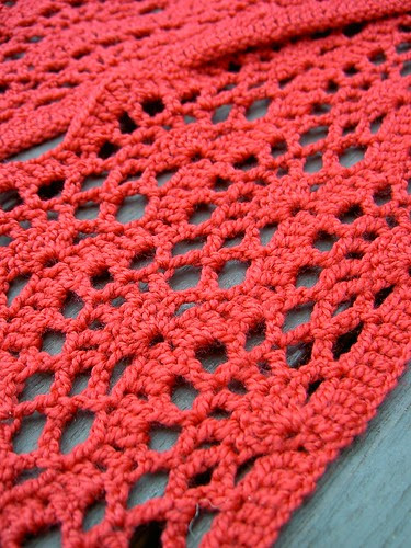 Red Crocus Scarf - detail
