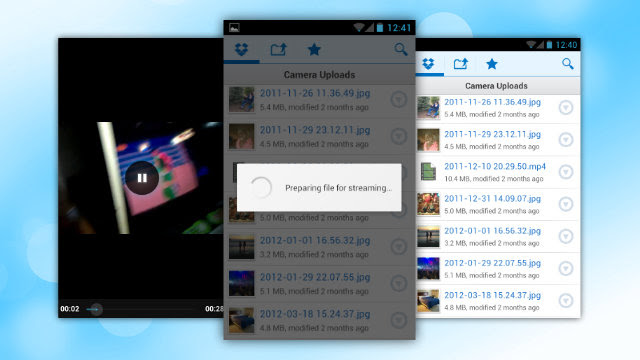 How to stream videos on android 4.0 ICS from your Dropbox