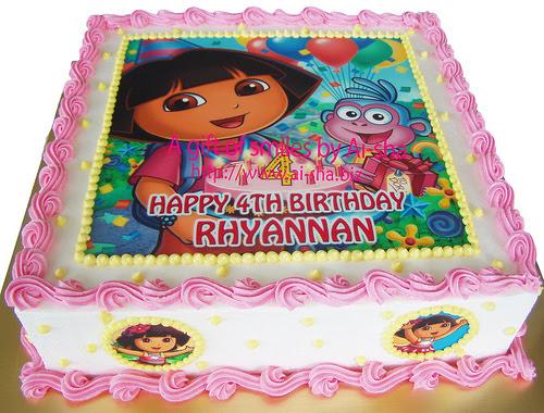 Birthday Cake Edible Image Dora The Explorer