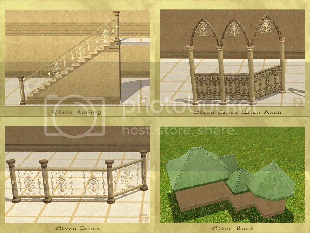 Elven Set. Part I: Build Mode II. D&M Creations - Demonic. Sims 3.