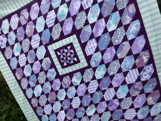 Brit Bee '13 Vintage Purple Quilt top