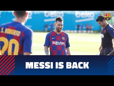 Leo Messi is back in training with the squad